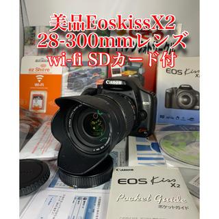 Canon - 一眼レフ canon EOS X2 300mmレンズwi-fi  SD 16GB