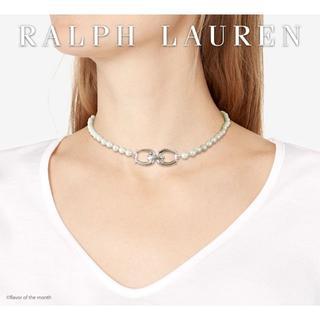 ラルフローレン(Ralph Lauren)のラルフ ローレン 2WAY おしゃれなホースシュー・パールネックレス(ネックレス)