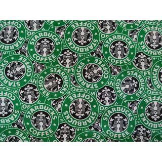 スターバックスコーヒー(Starbucks Coffee)のキャンバス生地 帆布 スターバックス柄 142㎝×50㎝ 新品(生地/糸)