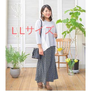 しまむら - 小花柄スカート ネイビー LL フレアスカート ぽっちゃりアラサー Hina