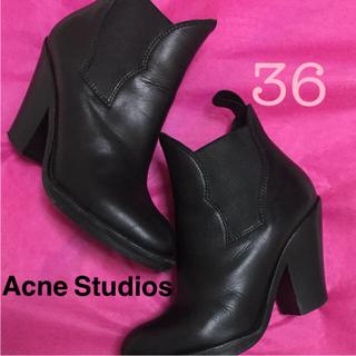 アクネ(ACNE)の値下げ☆Acne Studios ショートブーツ 黒 36(ブーツ)