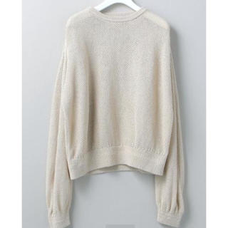 BEAUTY&YOUTH UNITED ARROWS - 6 roku MESH CREW NECK KNIT PULLOVER