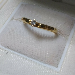 K18 フラワーダイヤモンドリング(リング(指輪))