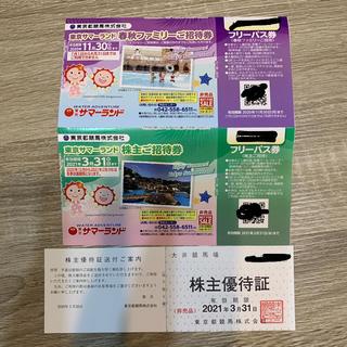 東京都競馬 株主優待(遊園地/テーマパーク)