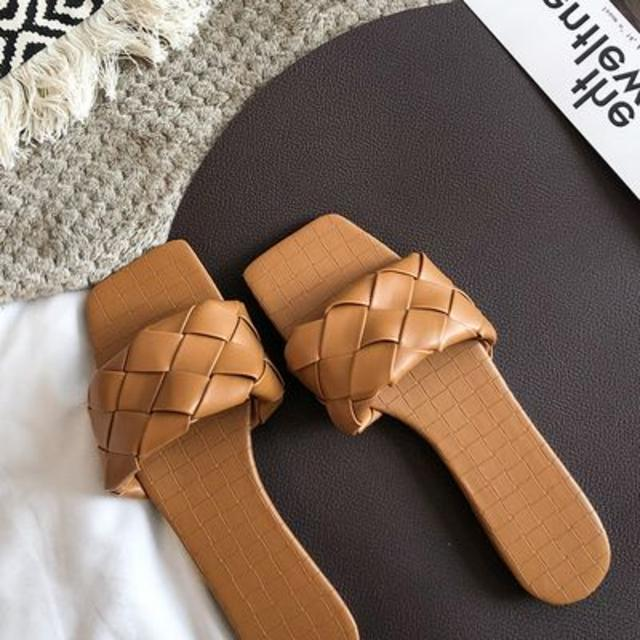 dholic(ディーホリック)の新作|スクエアトゥメッシュサンダル レッド SS 新品 送料無料 先取り 人気★ レディースの靴/シューズ(サンダル)の商品写真