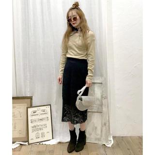snidel - epimi épimmy フラワーレースタイトスカート