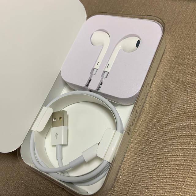 Apple(アップル)のApple 純正 イヤホン 充電ケーブル 新品未使用 スマホ/家電/カメラのオーディオ機器(ヘッドフォン/イヤフォン)の商品写真