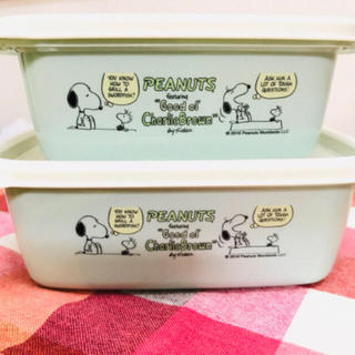 SNOOPY - 新品 SNOOPY エアー弁付きコンテナー2P送料込み