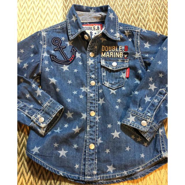 mikihouse(ミキハウス)のミキハウス デニムシャツとパンツのセット キッズ/ベビー/マタニティのキッズ服男の子用(90cm~)(Tシャツ/カットソー)の商品写真