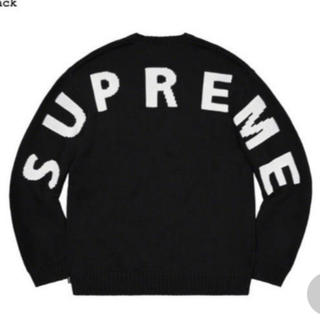 Supreme - シュプリーム supreme back logo sweater 黒