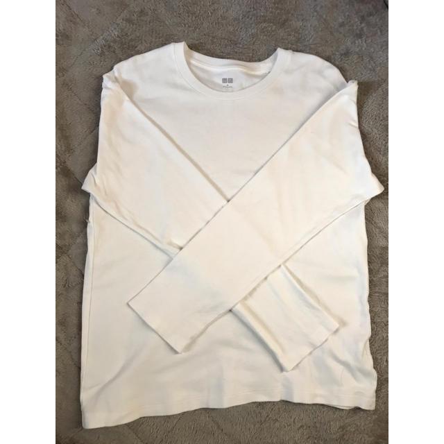 UNIQLO(ユニクロ)のユニクロ コットンクルーネック メンズのトップス(Tシャツ/カットソー(七分/長袖))の商品写真