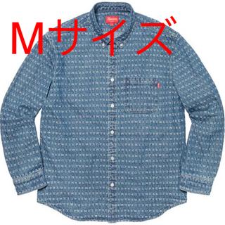 Supreme - supreme Jacquard Logos Denim Shirt M