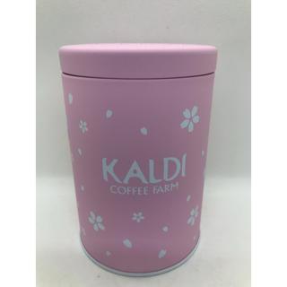 カルディ(KALDI)のカルディ キャニスター缶 桜(容器)