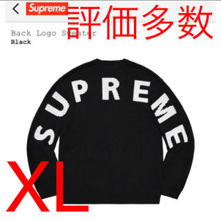 Supreme - supreme back logo sweater XL BLACK シュプ