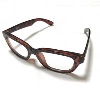 ハレ(HARE)の【HARE】ウェリントンメガネ 伊達眼鏡 べっ甲(サングラス/メガネ)