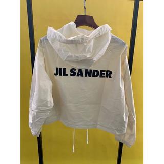 Jil Sander - JIL SANDER オーバーサイズ ロゴ フード付きジャケット