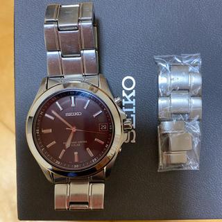 SEIKO - セイコー 腕時計 ブラック ソーラー メンズ