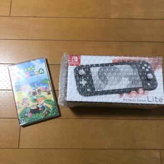 Nintendo Switch - NintendoSwitch LITE グレー あつまれどうぶつの森