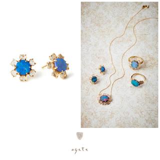 agete - 【期間限定出品】新品♡agete♡K18ピアス♡ダブレットオパール♡アガット
