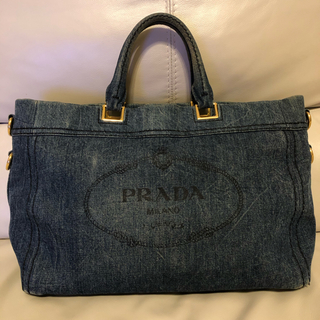 PRADA - プラダ カナパ トートバック 淡デニムカラー