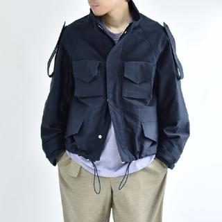 サンシー(SUNSEA)のSOUMO  Field Jacket (NAVY)  (ミリタリージャケット)