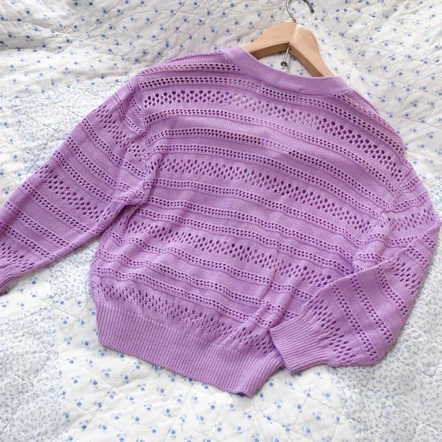 Rirandture(リランドチュール)の新品 Rirandture  リランドチュール 透かし編みショートカーディガン レディースのトップス(カーディガン)の商品写真