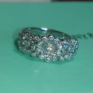 Tiffany & Co. - ティファニー デイジー ダイヤモンド リング  プラチナ ダイヤ フラワー