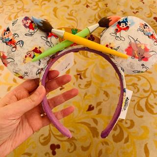 ミッキーマウス - 【香港ディズニー】インク&ペイント カチューシャ