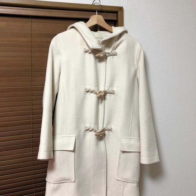 Ungrid(アングリッド)の【ungrid】ダッフルコート 白 レディースのジャケット/アウター(ダッフルコート)の商品写真