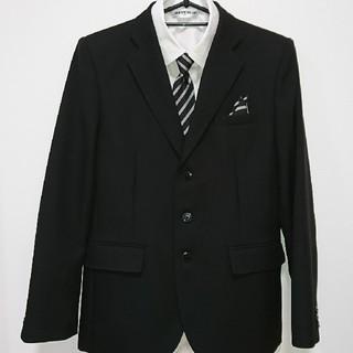 シマムラ(しまむら)の黒 スーツ ワイシャツ ネクタイ 160(ドレス/フォーマル)