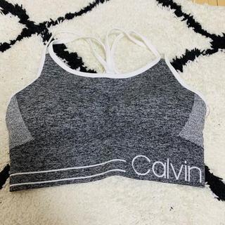Calvin Klein - カルバン・クライン スポーツブラ グレー 新品タグ付き Sサイズ