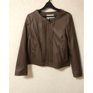 クチュールブローチ(Couture Brooch)のクチュールブローチ フェイクレザージャケット(レザージャケット)