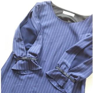 ミューズ(Mew's)のミューズ 袖リボン ワンピース 袖シースルー ロディスポット スナイデル(ひざ丈ワンピース)