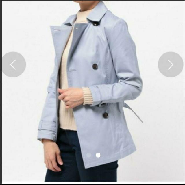 mysty woman(ミスティウーマン)の新品 未使用 mysty woman ミスティウーマン ショート トレンチコート レディースのジャケット/アウター(トレンチコート)の商品写真