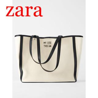 ZARA - レア✨新品 キャンパス地 トートバッグ