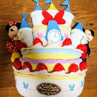 Disney - ディズニー ぬいぐるみ 20周年記念 ミッキーマウス ミニーマウス ケーキ