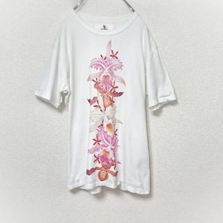 Yohji Yamamoto - Y's Yohji yamamoto ヨウジヤマモト フラワープリント Tシャツ