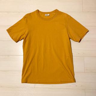 ユニクロ(UNIQLO)のユニクロユー UNIQLOU 半袖Tシャツ マスタード イエロー(Tシャツ(半袖/袖なし))