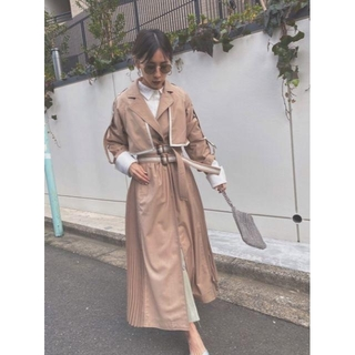 Ameri VINTAGE - ROLL-UP SLEEVE PLEATS TRENCH COAT
