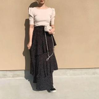 mite dot asymmetryskirt ドットアシンメトリースカート
