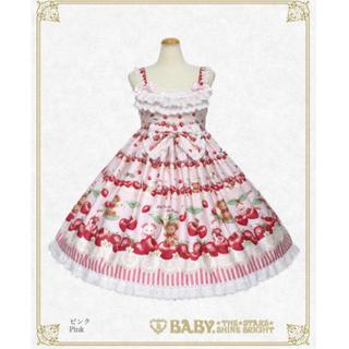 BABY,THE STARS SHINE BRIGHT - くみゃちゃんのCherry Strawberry柄ジャンパースカート
