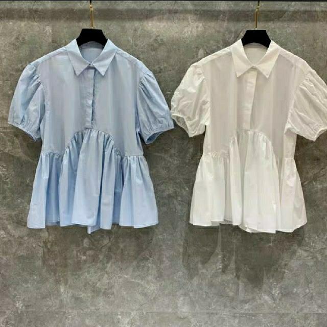 Drawer(ドゥロワー)のセシリータイプフレアブラウス☆ レディースのトップス(シャツ/ブラウス(半袖/袖なし))の商品写真