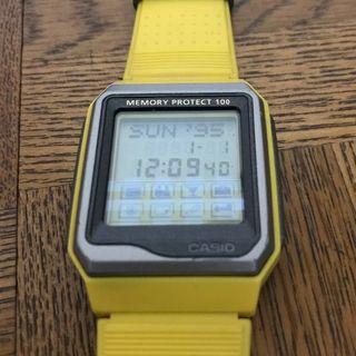 カシオ(CASIO)の腕時計 カシオ データバンク 黄色 ※注意事項あり 商品説明必読(腕時計(デジタル))