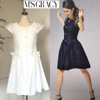 M'S GRACY - 美品エムズグレイシー カタログ掲載袖ボーダー ワンピース