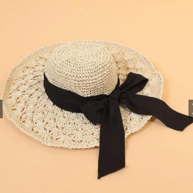 who's who Chico(フーズフーチコ)のリボンストローハット レディースの帽子(麦わら帽子/ストローハット)の商品写真