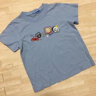 familiar - ファミリア Tシャツ ファミちゃん 水色 ブルー 車 100