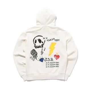 三代目 J Soul Brothers - jsb 正規品 白ジップパーカー【M】Iconic Music Logo