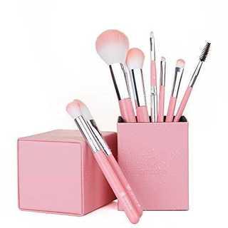ピンク8本amoore 8本 化粧筆 メイクブラシセット 化粧ブラシ セット