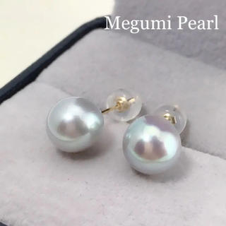 【特価品】K18 あこや真珠グレーパールピアス(ピアス)
