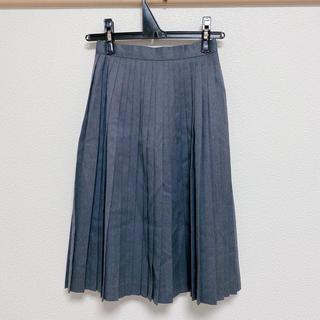 グレープリーツスカート(ひざ丈スカート)